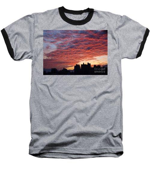 Baseball T-Shirt featuring the photograph Dramatic City Sunrise by Yali Shi