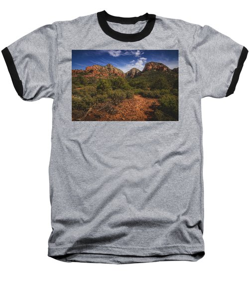 Dramatic Cloudscape Over Capitol Butte Baseball T-Shirt