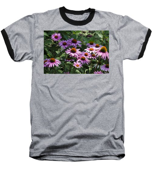 Dramatic Coneflowers Baseball T-Shirt