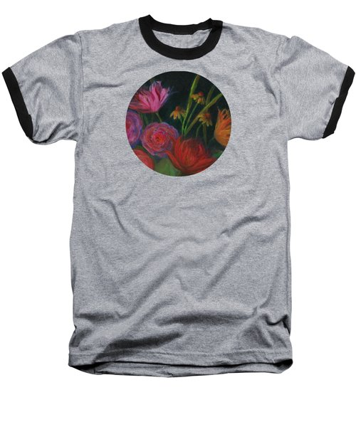 Dramatic Floral Still Life Painting Baseball T-Shirt by Mary Wolf