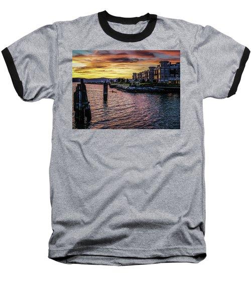 Dramatic Hudson River Sunset Baseball T-Shirt