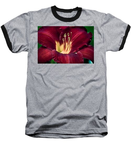 Dramatic Lily Baseball T-Shirt