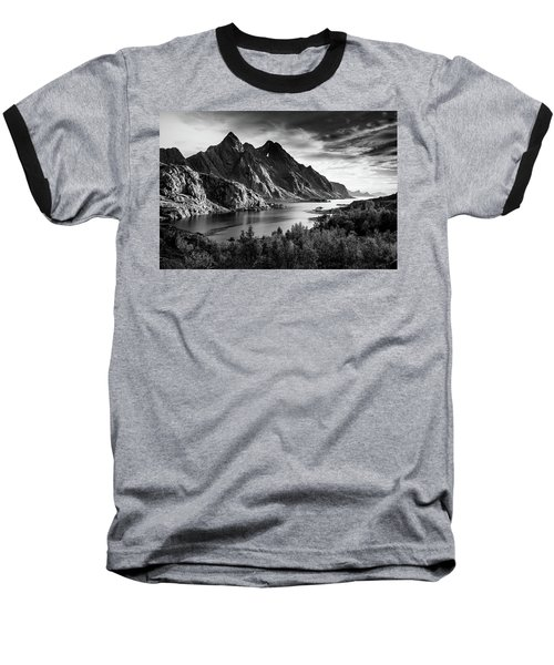 Dramatic Lofoten Baseball T-Shirt