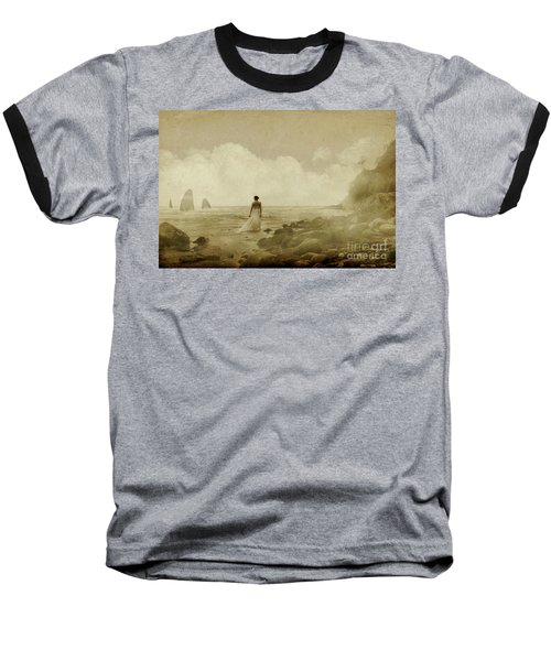 Dramatic Seascape And Woman Baseball T-Shirt