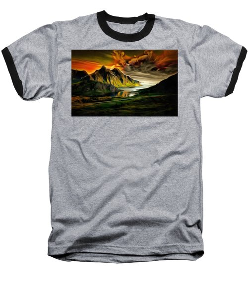 Dramatic Skies Baseball T-Shirt
