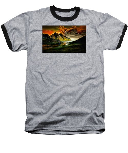 Dramatic Skies Baseball T-Shirt