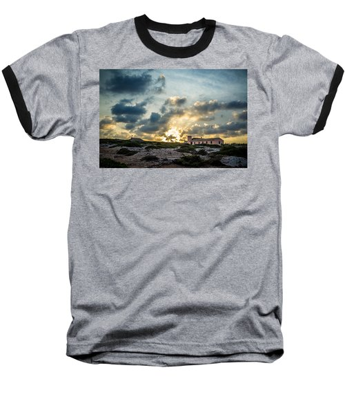 Dramatic Sunset Baseball T-Shirt
