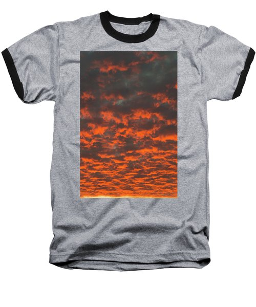 Dramatic Sunset Baseball T-Shirt by Hans Engbers