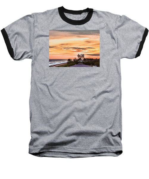 Dramatic Sunset Baseball T-Shirt