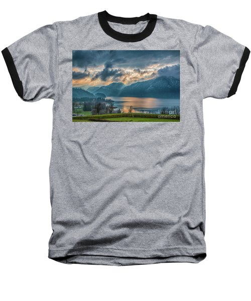 Dramatic Sunset Over Mondsee, Upper Austria Baseball T-Shirt