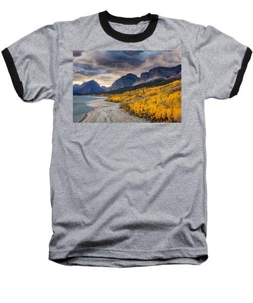 Dramatic Sunset Sky In Autumn  Baseball T-Shirt