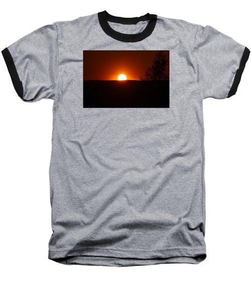 Dramatic Sunset View From Mount Tom Baseball T-Shirt