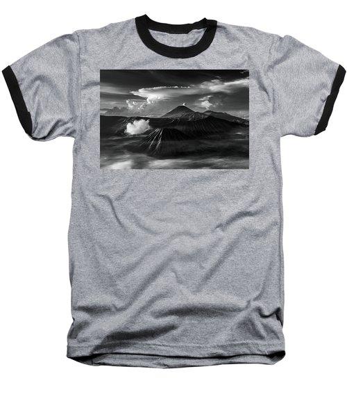 Dramatic View Of Mount Bromo Baseball T-Shirt