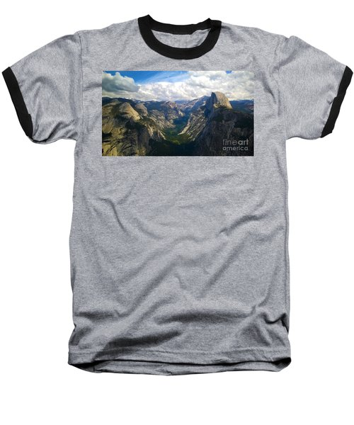 Dramatic Yosemite Half Dome Baseball T-Shirt by Debra Thompson
