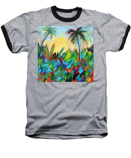 Baseball T-Shirt featuring the painting Drawn By The Color by Elizabeth Fontaine-Barr