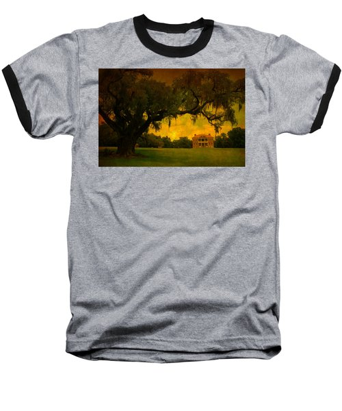 Drayton Hall Plantation In Charleston Baseball T-Shirt