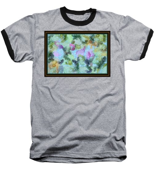 Baseball T-Shirt featuring the mixed media Dream Bigger by Trish Tritz