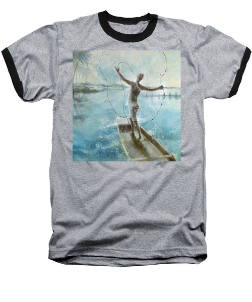 Baseball T-Shirt featuring the painting Dream Catcher by Gertrude Palmer