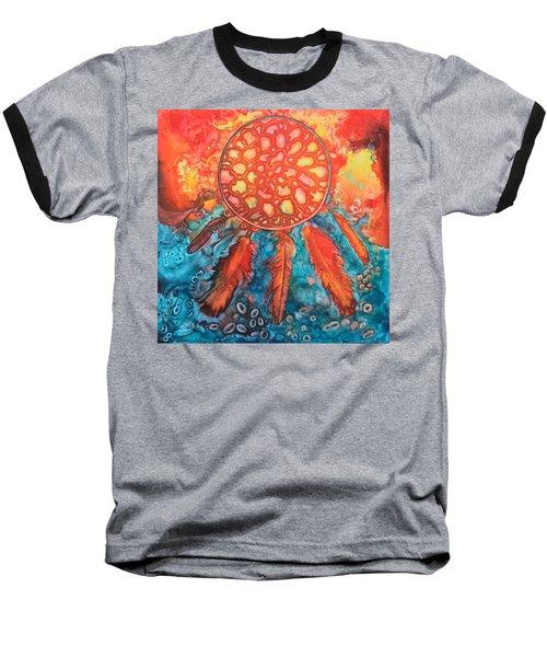 Dream Catcher Baseball T-Shirt by Nancy Jolley