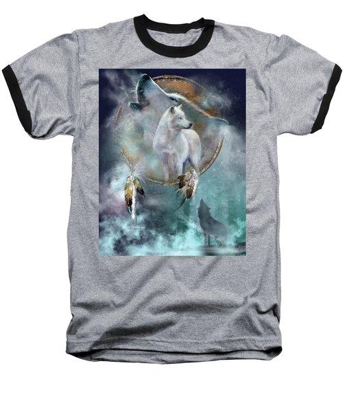 Dream Catcher - Spirit Of The White Wolf Baseball T-Shirt