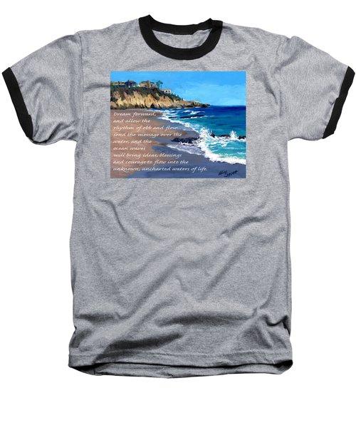 Dream Forward Baseball T-Shirt by Alice Leggett