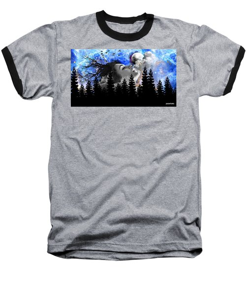 Dream Is The Space To Fly Farther Baseball T-Shirt by Paulo Zerbato