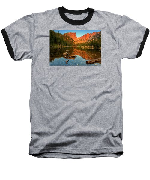 Dream Lake Sunrise Baseball T-Shirt