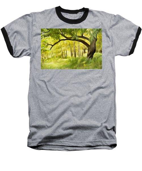 Dream On Baseball T-Shirt by Carol Crisafi