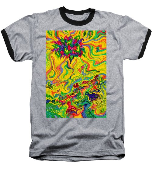 Dream-scaped Swamp Garden 2 Baseball T-Shirt