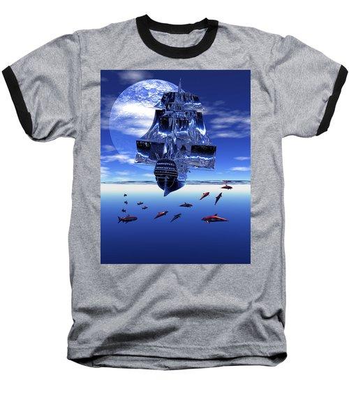 Dream Sea Voyager Baseball T-Shirt by Claude McCoy