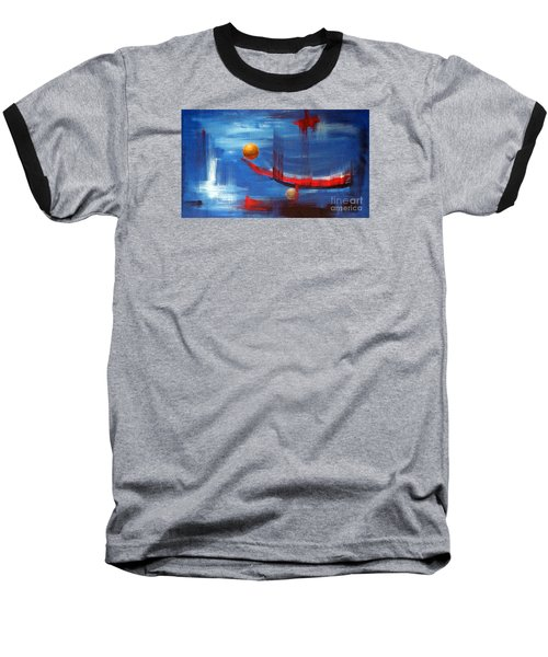 Baseball T-Shirt featuring the painting Dream Ship by Arturas Slapsys