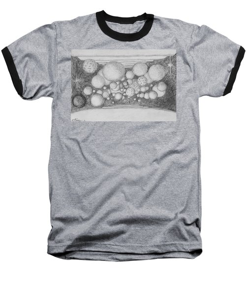 Baseball T-Shirt featuring the drawing Dream Spirits by Charles Bates
