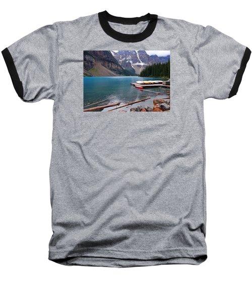 Moraine Lake, Ab  Baseball T-Shirt by Heather Vopni