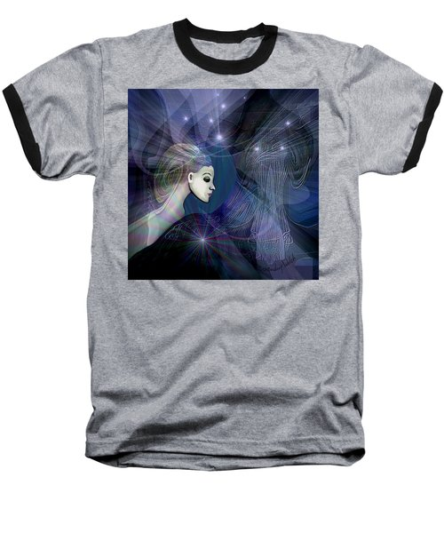 Baseball T-Shirt featuring the digital art 1101 - Dream Voyage - 2017 by Irmgard Schoendorf Welch