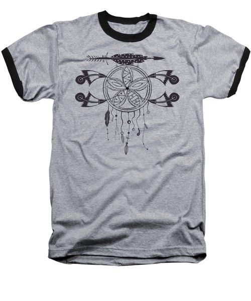 Dreamcatcher 101 Baseball T-Shirt by Ericamaxine Price