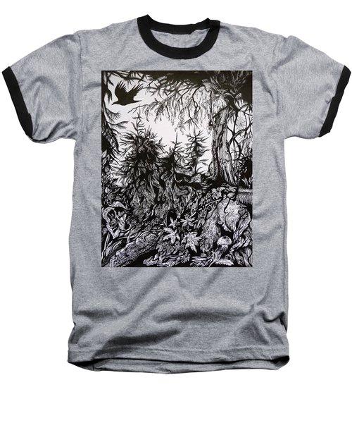 Baseball T-Shirt featuring the drawing Dreaming Alaska.part One by Anna  Duyunova