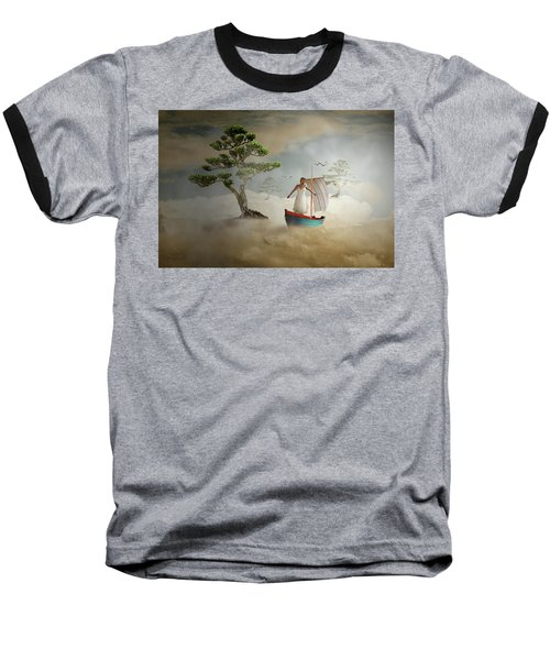 Baseball T-Shirt featuring the digital art Dreaming High by Nathan Wright