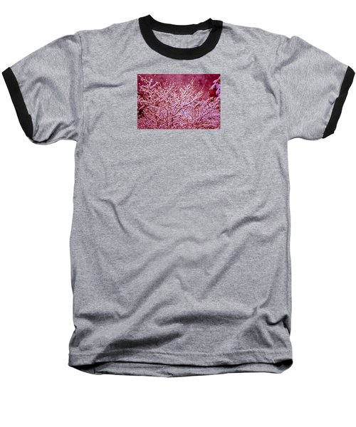 Baseball T-Shirt featuring the photograph Dreaming In Red - Winter Wonderland by Susanne Van Hulst