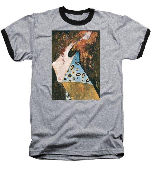 Baseball T-Shirt featuring the painting Dreaming by Maya Manolova