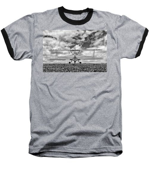 Dreaming Of Flight, In Black And White Baseball T-Shirt