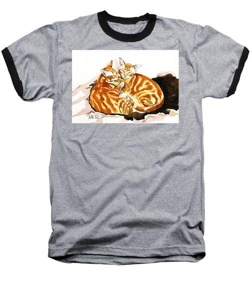 Dreaming Of Ginger - Orange Tabby Cat Painting Baseball T-Shirt