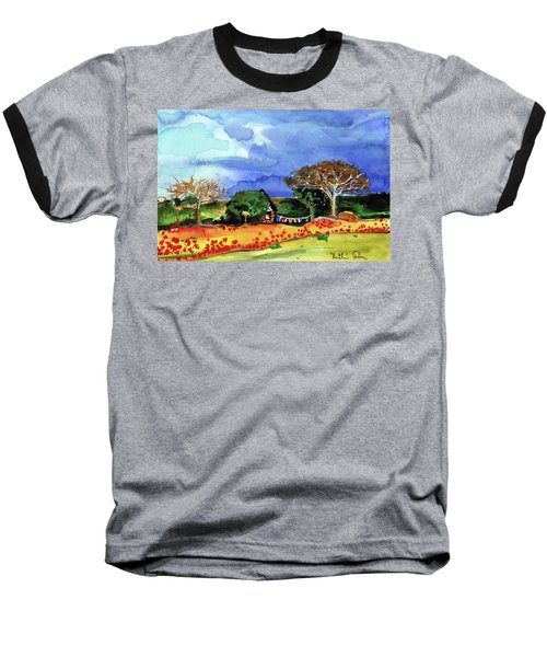 Baseball T-Shirt featuring the painting Dreaming Of Malawi by Dora Hathazi Mendes