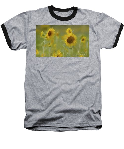 Baseball T-Shirt featuring the photograph Dreaming Of Sunflowers by Benanne Stiens