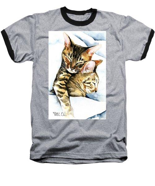 Dreamland - Bengal And Savannah Cat Painting Baseball T-Shirt