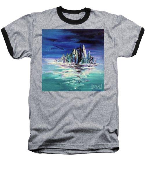 Dreamland Isle Baseball T-Shirt by Tatiana Iliina