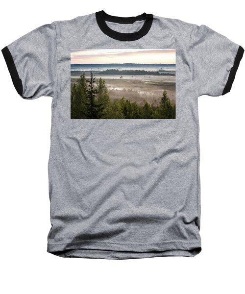 Dreamlike Landscape Baseball T-Shirt by Teemu Tretjakov