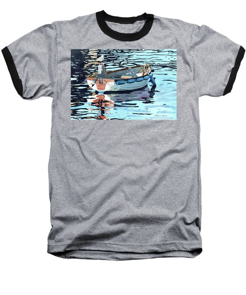 Dreams Adrift, Fishing Boat, Boat Painting, Boat Print, Boat Art Baseball T-Shirt