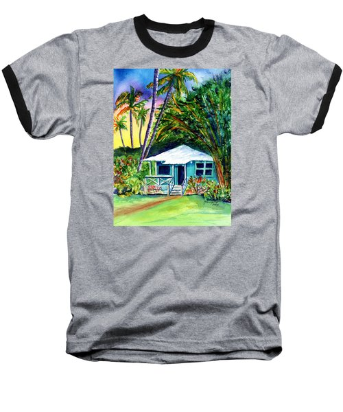 Baseball T-Shirt featuring the painting Dreams Of Kauai 2 by Marionette Taboniar