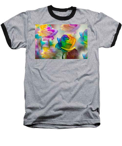 Baseball T-Shirt featuring the photograph Dreams Of Rainbow Rose by Jenny Rainbow
