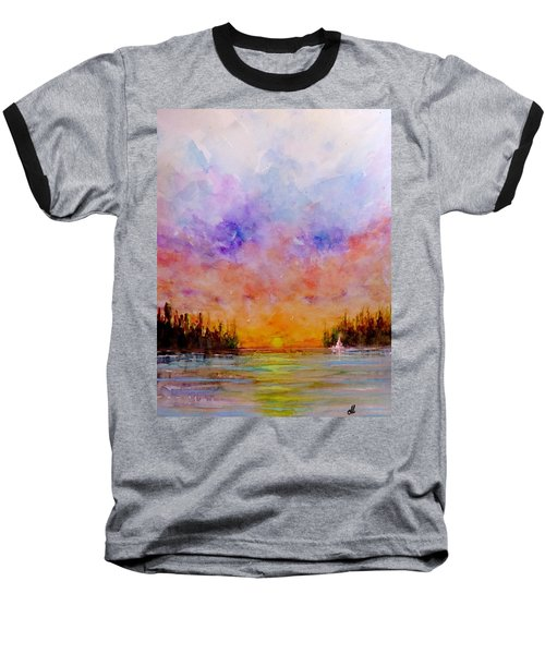 Baseball T-Shirt featuring the painting Dreamscape.. by Cristina Mihailescu